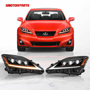 Led Projecctor Headlight W Sequential Indicator For 2006 12 Lexus Is250 350 Isf