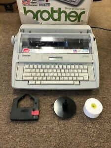 Brother Gx 8250 Portable Electronic Wp Typewriter W cover ribbon manual Working