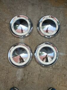 1056 57 58 Chevrolet Dog Dish Hubcaps Hub Caps Center Caps 10 1 4