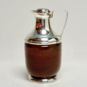 Mid Century Sterling Silver Mahogany Insulated Pitcher Revere Silver Co Ny