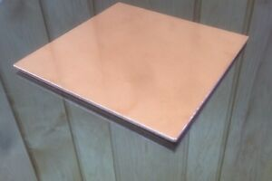 1 8 Copper Sheet Plate New 6 x6 125 Thick custom 1 8 Sizes Available