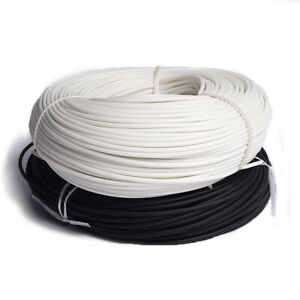 1mm 25mm Silicon Fiber Glass Sleeving Cable Wire Heat Resistant Tube White black
