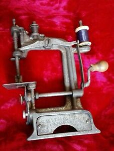 Antique Sewing Machine Toy Smith Egge Automatic Circa 1901