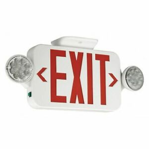 Hubbell Lighting Compass Ccrrcsd Exit Sign With Emergency Lights 18 w 2 d
