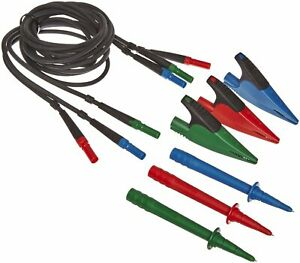 Fluke Tl165x Standard Test Lead Set With Leads Probes Caps And Alligator Clips