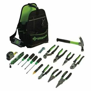 Greenlee 0159 17elec Electricians Tool Kit 17 Pcs caddy