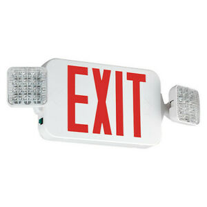 Hubbell Lighting Compass Ccrhosq Exit Sign With Emergency Lights 19 1 4 w