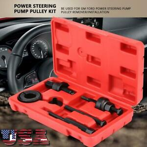 Power Steering Pump Pulley Puller Remover Install Tool Kit For Gm Ford C2 C111