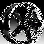 22 Azad Az008 Black Concave Staggered Wheels Rims Fits Dodge Charger Rt Srt8