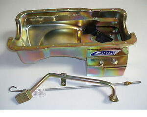 Canton Black Powdercoated Mustang 302 7 Quart T Oil Pan 3 Pc Kit Sbf 15 644blk
