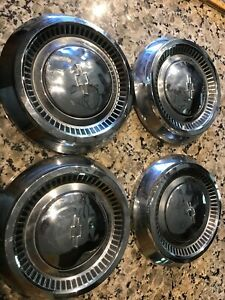 Set Of Four Matching 1960s Chevrolet Chevy Dog Dish Hub Caps 10 5