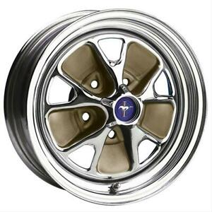 Wheel Vintiques 55 Series Steel Rallye Chrome Wheel 14 X7 5x4 5 Bc