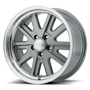 American Racing Vn52758034400 American Racing Vn527 Mag Gray Machined Lip