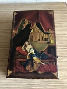 Antique Russian Wood Hand Painted Box Circa1880