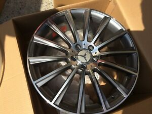 Set Of 19x8 5 Gunmetal S63 Amg Style Rims Wheels Fits Benz Cls500 Cls550 5x112