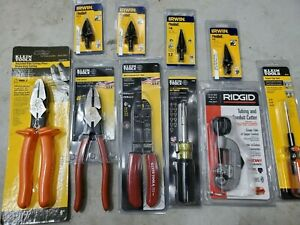 Klein Tool Electrical Starter Kit Sidecutters Screwdrivers Bits Strippers
