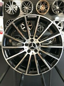 19 Staggered Black Machined S63 Amg Style Rims Fits Mercedes Cls500 Cls550