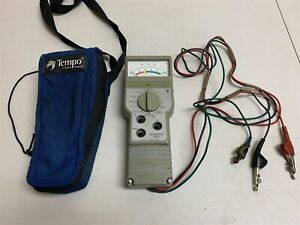 Tempo Sidekick T n Twisted Pair Phone Line Cable Tester Meter W Case