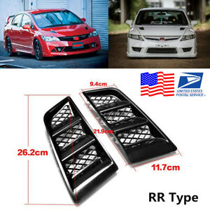 Pair Universal Rr Type Hood Vents Scoop Bonnet Air Vents Air Flow Vent Duct Usa