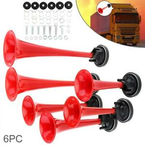 178db Metal Super Loud Six Trumpet Car Air Horn W compressor For Car truck motor
