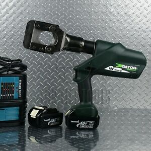Greenlee Esg45l Cordless Hydraulic Wire Cable Cutter Acsr Guy Ground Rod Rebar