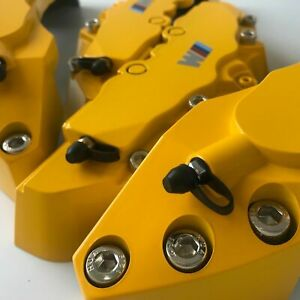 4pcs M Yellow Brake Caliper Covers 11 F 9 R For Bmw 3 Engineering Plastic