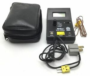 Weller Wa 2000 Analyzer Soldering Gun Heat Tester With Wall Plug In And Case