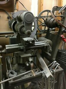 Burke 4 Milling Mill Machine Machinist With Lots Of Cutters