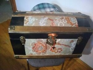 Partially Restored Antique Camelback Dome Top Steamer Trunk