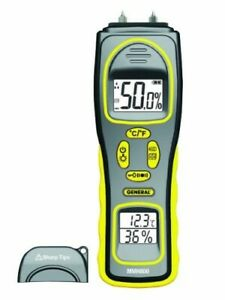General Tools Mmh800 Moisture Meter Pin Type Or Pinless Temperature And Humidi