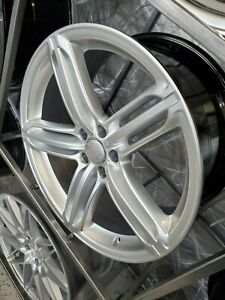 Four New 20x9 0 Silver Peeler Style Wheels For Audi A5 A6 A8 S4 S5 5x112