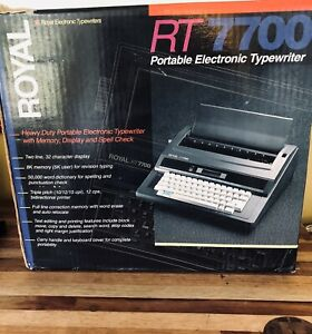 Royal Portable Electronic Typewriter Memory Display Spell Check Rt7700 more