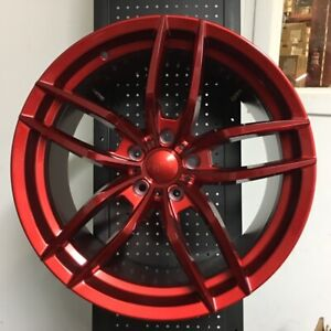 4 New Set 19 Voss Style Candy Red Concave Wheels Rims 5x114 3