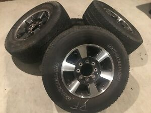 Ford F 250 8 lug Wheels With Michelin Ltx A t Lt275 70r18 set Of 4