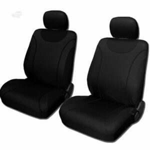 For Chevy New Front Black Soft Cloth Car Truck Seat Covers Set