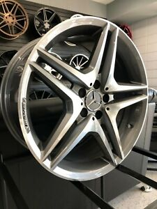 18 Staggered Gunmetal C43 Amg Style Wheels For Mercedes S Class W221 W222