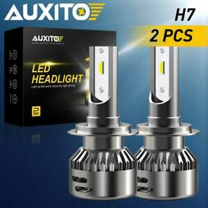 Auxito H7 Super Bright 50000lm Led Headlight Bulbs High Low Beam Fog 6500k Kit