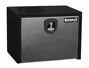 Buyers Products 1702703 Toolbox 18x18x30 Polished Stainless Steel Dr Black