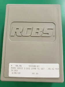 RCBS Carbide 3 Die Set for 45 ACPARGAP. #18915 NIB