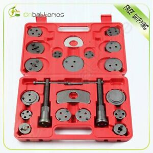 Universal Disc Brake Caliper Piston Rewind Tool Kit Set Auto Wind Back Car 21pcs