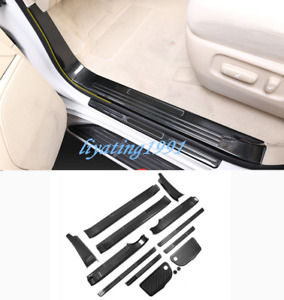 Carbon Fiber Side Door Sill Guards Plate For Toyota Land Cruiser Lc200 2008 2019