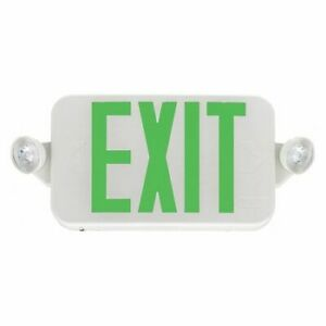 Lithonia Lighting Ecc G M6 Exit Sign green Letter Color led 16 W