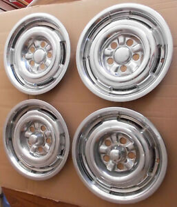 1965 1966 1967 Mercury Cyclone Set Of 4 Hubcaps 14 2 Front 2 Rear