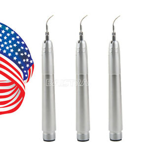 3pcs Nsk Style Dental Ultrasonic Air Perio Scaler Handpiece 2 holes With 3 Tips