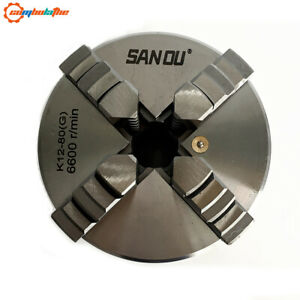 4 Jaw Lathe Chuck Self centering 80mm K12 80 With Hardened Steel For Mini Lathe