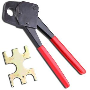 1 2 3 4 Pex Crimper 1 5 8 Pex Cutter For Clamp Tubing Plumbing Gonogo Gauge