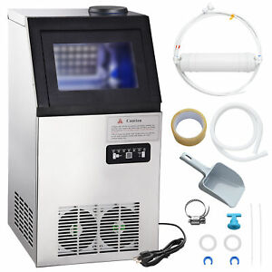 Commercial Ice Maker Machine Undercounter Auto Built in Ice Cube Restaurant Bar
