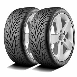 2 New Federal Super Steel 595 205 40r17 80v A s Performance Tires
