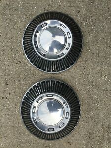 Vintage Ford Galaxie Fairlane Ltd Police Pickup Truck Hubcaps Wheel Covers