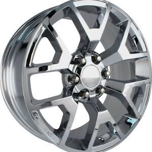 4 New 20x9 Oe Performance 150c Chrome Wheels Rims 27 6x5 50